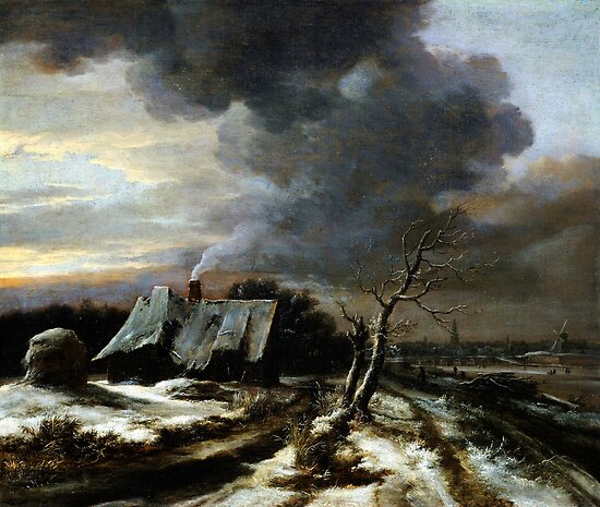 Jacob van Ruisdael  Winter Landscape with a view of the Amstel River and Amsterdam (the 1650s) by Adam Asar