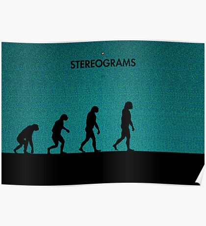 99 Steps of Progress - Stereograms Poster