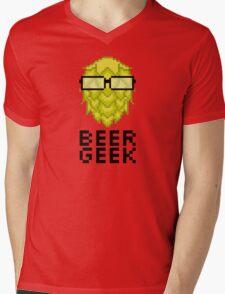 Beer Geek Mens V-Neck T-Shirt