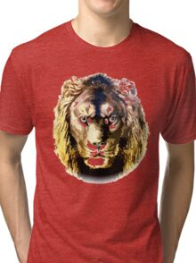 Lion, vector art Tri-blend T-Shirt