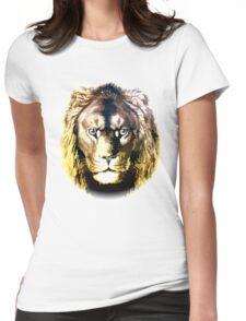 Lion, vector art Womens Fitted T-Shirt