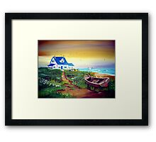 Once upon a time on the Coast... Framed Print
