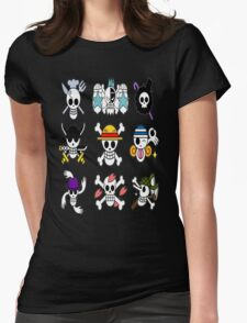 The Straw Hat Crew's Jolly Roger Womens Fitted T-Shirt