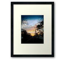 Sunset in Port Monmouth Framed Print
