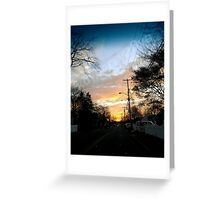 Sunset in Port Monmouth Greeting Card