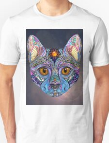 Psychedelic Cat with flair T-Shirt