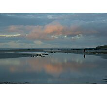 Last light at low tide Photographic Print