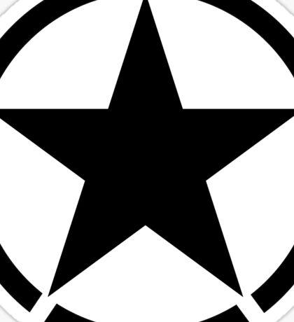 ARMY, Army Star & Circle, Jeep, War, WWII, America, American, USA, in Black Sticker