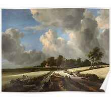 Jacob van Ruisdael   Wheat Fields (c. 1670) Poster