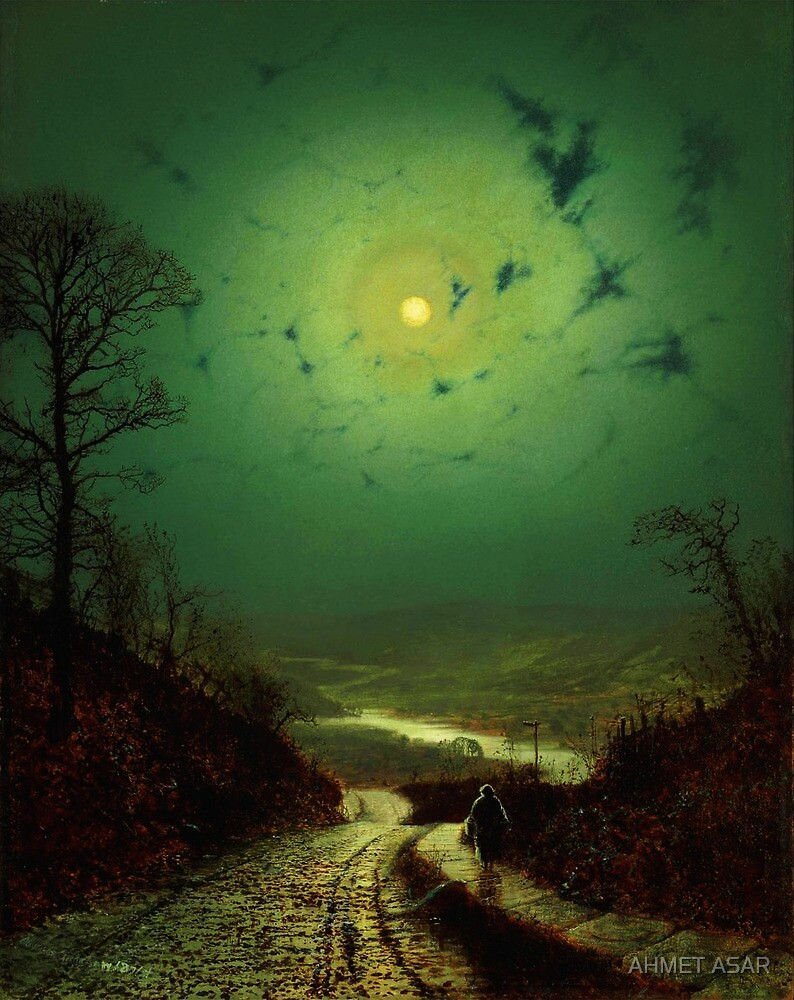 John Atkinson Grimshaw  Moonlight Wharfedale (1871) by Adam Asar