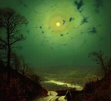 John Atkinson Grimshaw  Moonlight Wharfedale (1871) by Adam Asar