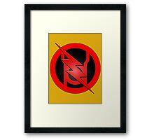 Red Lantern Reverse Flash Framed Print
