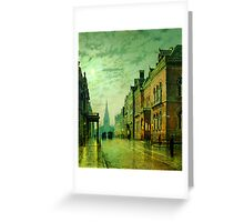 John Atkinson Grimshaw   Park Row Leeds (1882) Greeting Card
