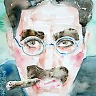 GROUCHO MARX watercolor portrait.1 by lautir