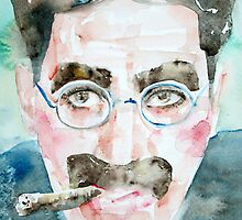 GROUCHO MARX watercolor portrait.1 by lautir