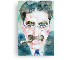 GROUCHO MARX watercolor portrait.1 Canvas Print