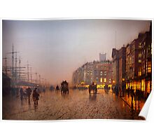 John Atkinson Grimshaw  Liverpool from Wapping (1885) Poster