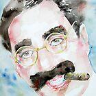 GROUCHO MARX watercolor portrait.2 by lautir