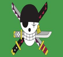 Roronoa Zoro's Jolly Roger Post Time Skip Kids Clothes