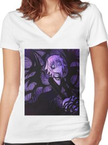 The Darkness Around Crona Women's Fitted V-Neck T-Shirt