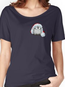 Santa Hat Wearing Baby Emperor Penguin Women's Relaxed Fit T-Shirt
