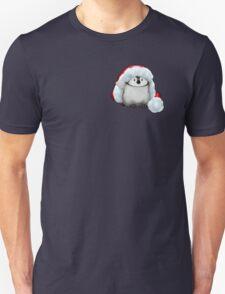 Santa Hat Wearing Baby Emperor Penguin T-Shirt