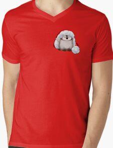 Santa Hat Wearing Baby Emperor Penguin Mens V-Neck T-Shirt