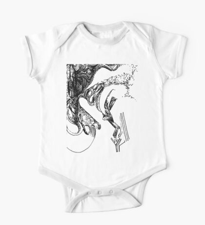 freestyle ink drawing 004 One Piece - Short Sleeve