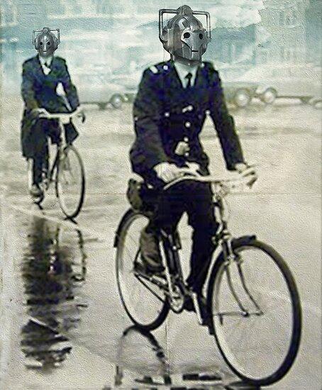 cybermen on bikes by vinpez
