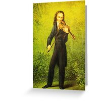 Kersting Der Geiger Nicolo Paganini Greeting Card