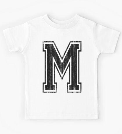 Big Varsity Letter M Kids Tee