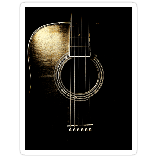 Acoutic Guitar Lite Sticker by Ra12