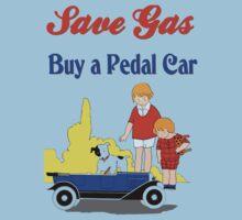 Retro save gas, buy a pedal car Kids Tee