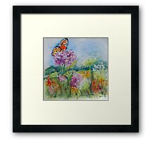Indiana Prairie Wild Flowers Framed Print