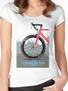 L'Étape du Tour Bike Women's Fitted Scoop T-Shirt