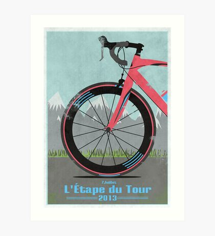 L'Étape du Tour Bike Art Print