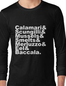 7 Fishes Seven Christmas Eve Italian  Long Sleeve T-Shirt