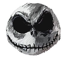 Jack Skellington Face 2 - The Nightmare Before Christmas Photographic Print