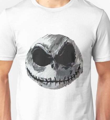 Jack Skellington Face 2 - The Nightmare Before Christmas Unisex T-Shirt
