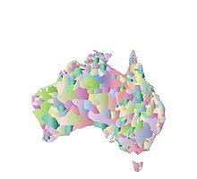 Pascaled Australia Map Photographic Print