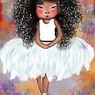 Ballerina in White - Girl Dressed in White by Beatrice  Ajayi