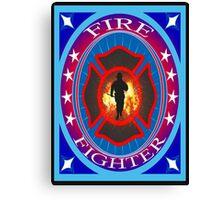 Fire fighter vintage gits  Canvas Print