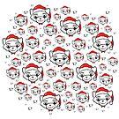 Merry Christmas Cat Pattern by Silvia Neto
