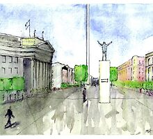 O'Connell Street in Watercolor by oconnost76