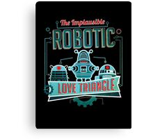 Robotic Love Triangle Canvas Print