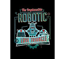 Robotic Love Triangle Photographic Print