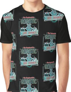 Robotic Love Triangle Graphic T-Shirt