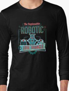 Robotic Love Triangle Long Sleeve T-Shirt