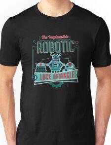 Robotic Love Triangle Unisex T-Shirt