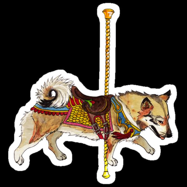 Vallhund Merry-Go-Round by KatArtDesigns
